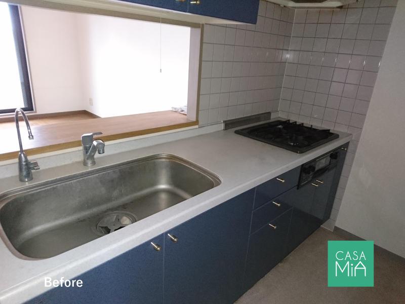 キッチンも古くて使いにくそう・・・|before|パラッシオ市川中山