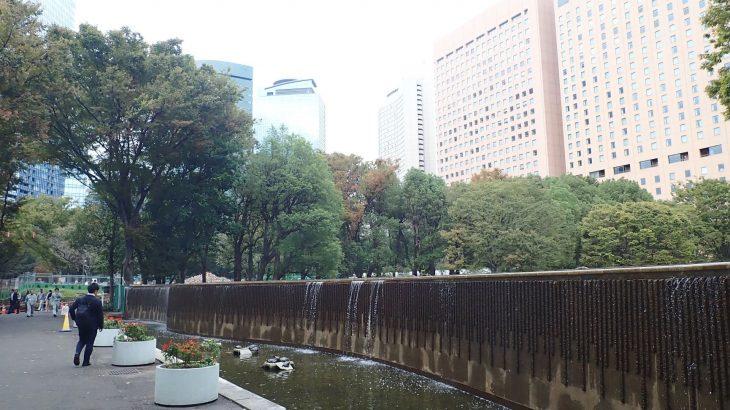 新宿区立中央公園の白糸の滝
