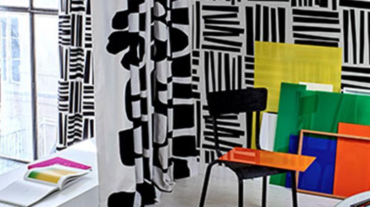 白×黒の大きな柄。遊び心いっぱい!ピエールフレイの新作カーテン
