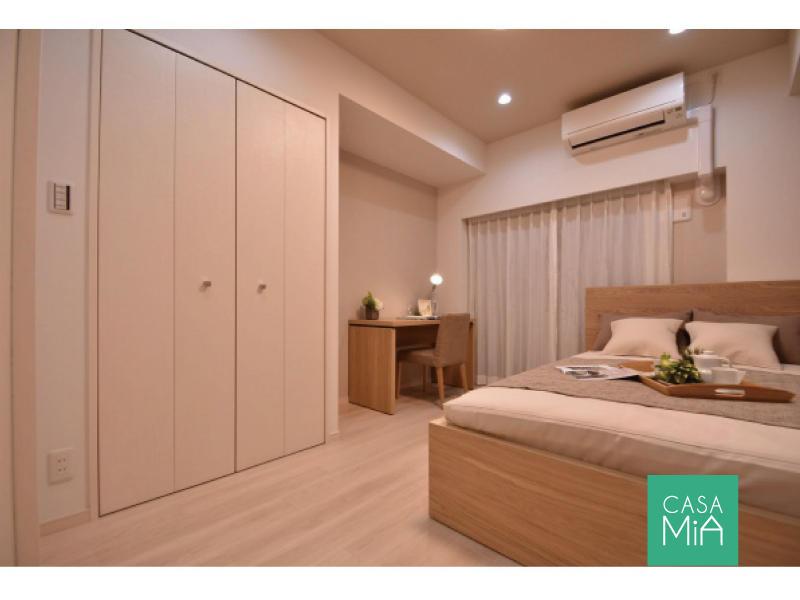 寝室は大きな収納があるので安心です コージーコート二子玉川