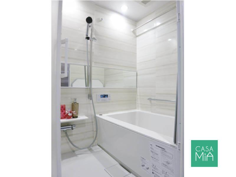 リラックスできるバスルーム|クインズコート新宿