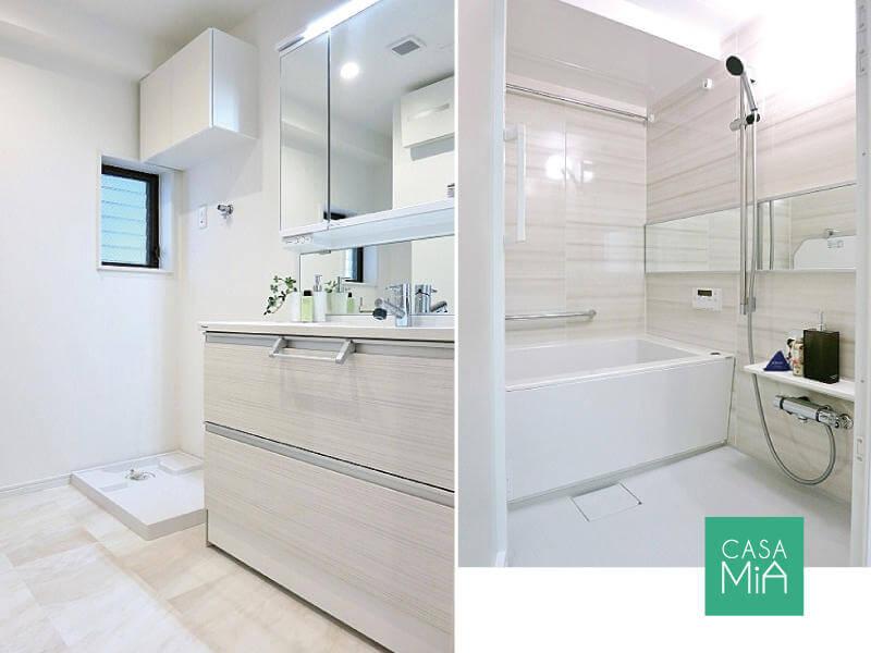 洗面化粧台もお風呂も、もちろん新品です|MMビル