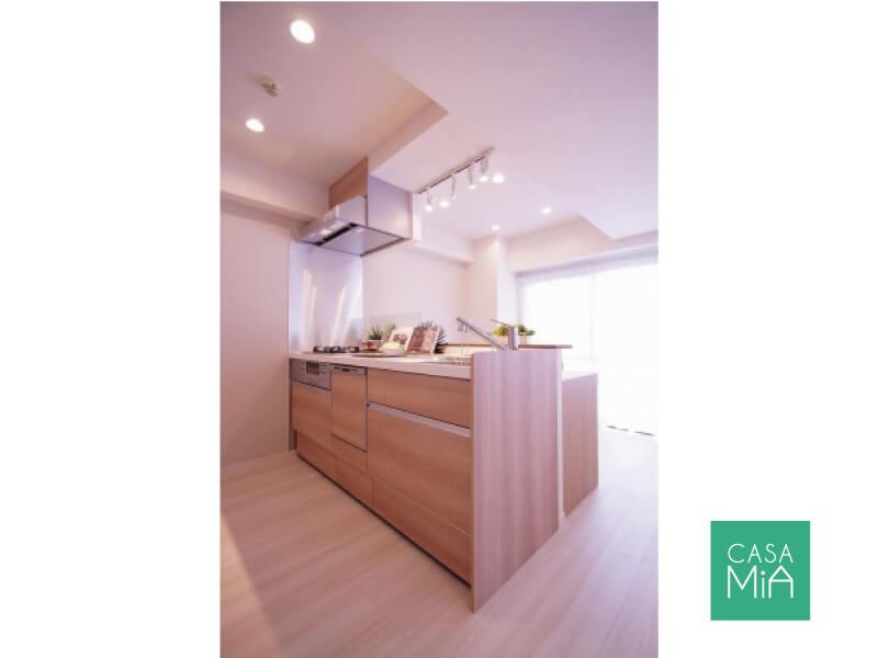 三ツ口コンロに食洗機で時短家事も実現可能|キッチン|グリーンコート梅ヶ丘