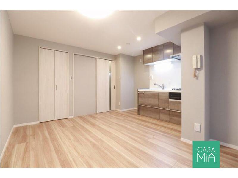 キッチンサイズもゆったり&引戸の活用で空間を有効に|ワールドパレス大井仙台坂