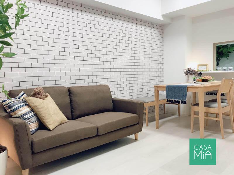 家具を置くだけで、素敵なカフェ風空間が出来上がります|パラッシオ市川中山