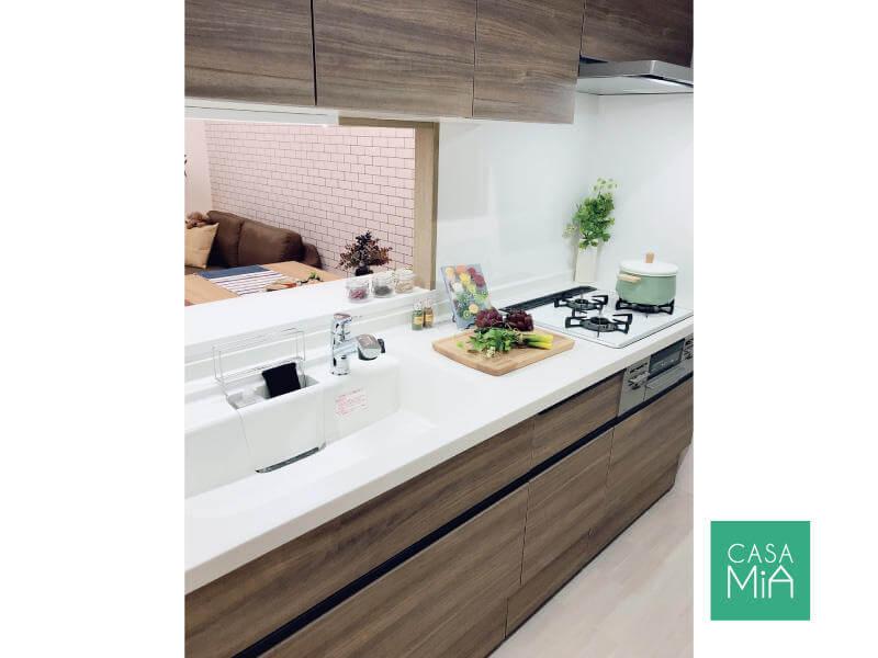新しいキッチンは使い勝手もデザイン性もUP!|after|パラッシオ市川中山