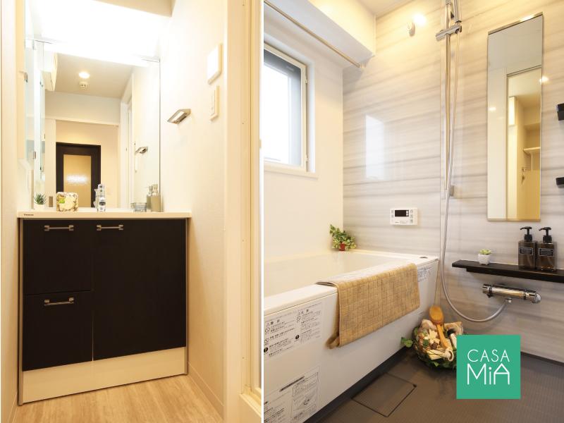 洗面化粧台とお風呂も新品です|アークス武蔵小山